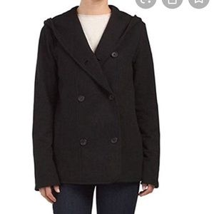 James Perse black hooded jacket size 4/m